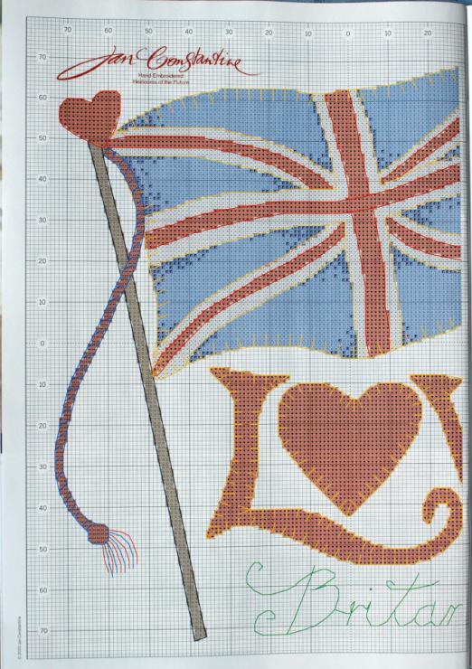 Английский флаг вышивка 25