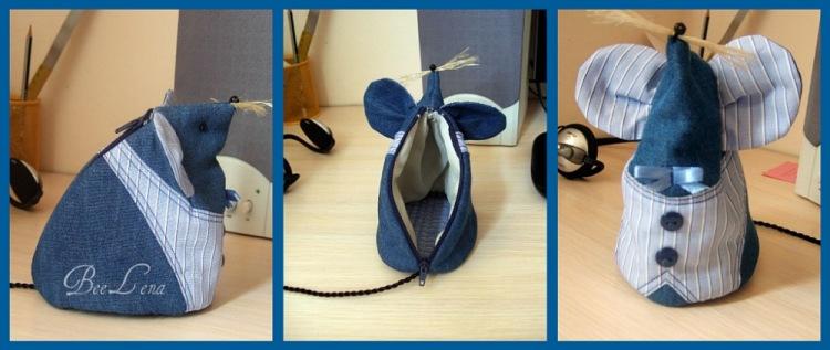Оригинальная сумочка в виде забавной мышки порадует юных модниц, ведь в ней можно хранить столько ценного!