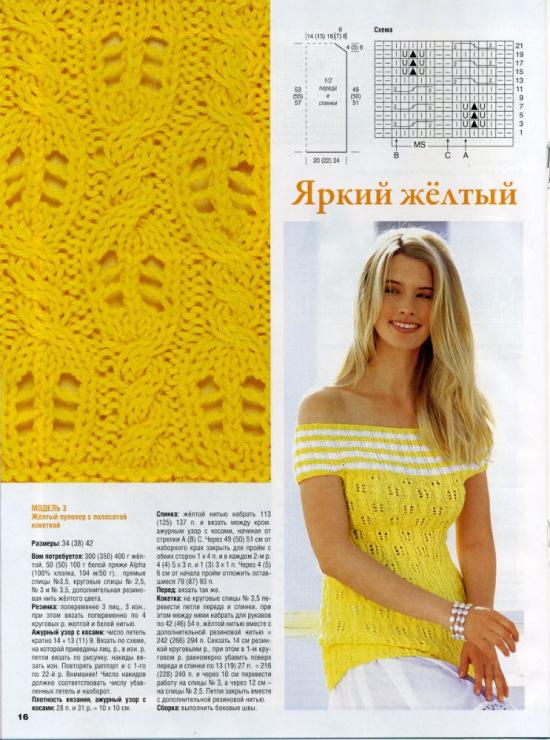 Журнал Сабрина - Описание вязания, схемы вязания 30