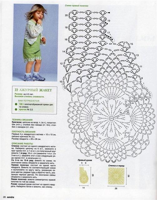 Схемы вязания крючком вещей для девочки