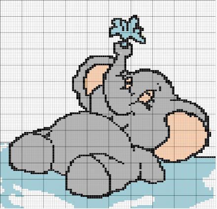 Рисунок слоники спицами