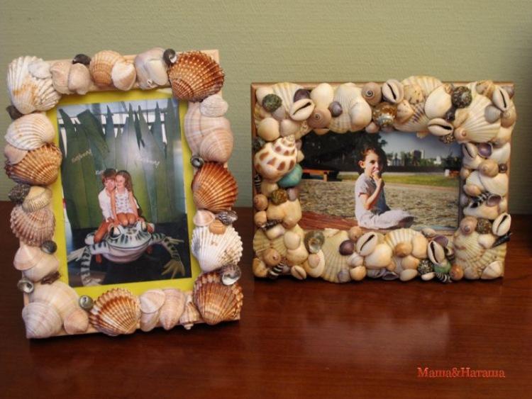 Как сделать рамки для фотографий из ракушек