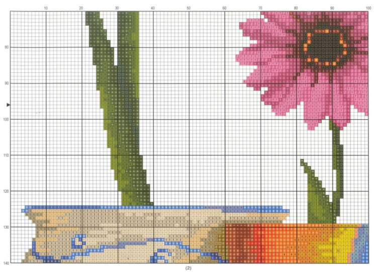 Схемы для вышивки цветы в горшках 79