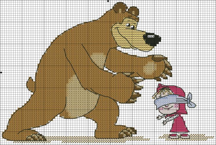 Вышивка схем маша медведь 277