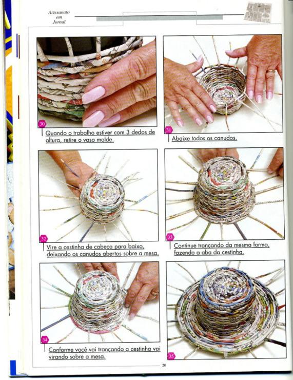 Что нужно для газетного плетения