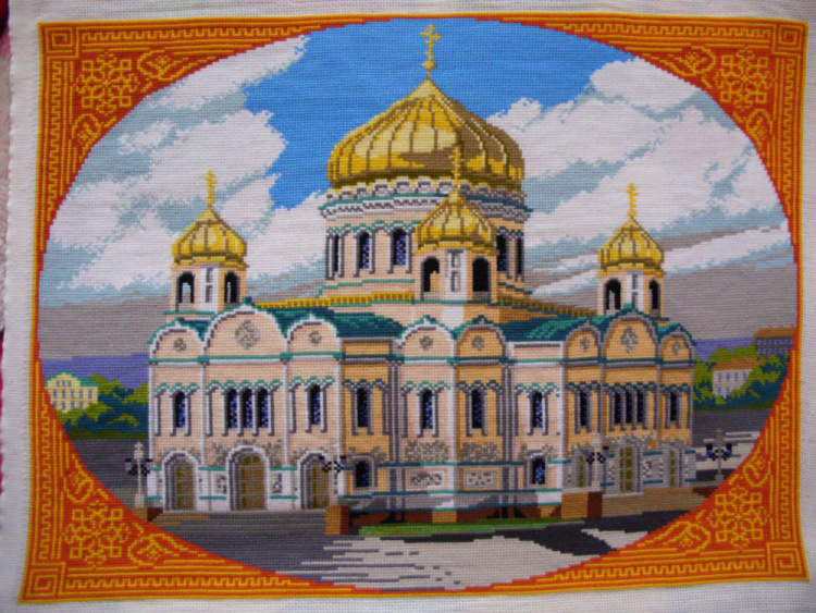 Вышивка риолис храм христа спасителя 81