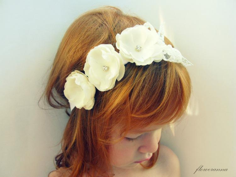 Повязку на голову с цветком своими руками