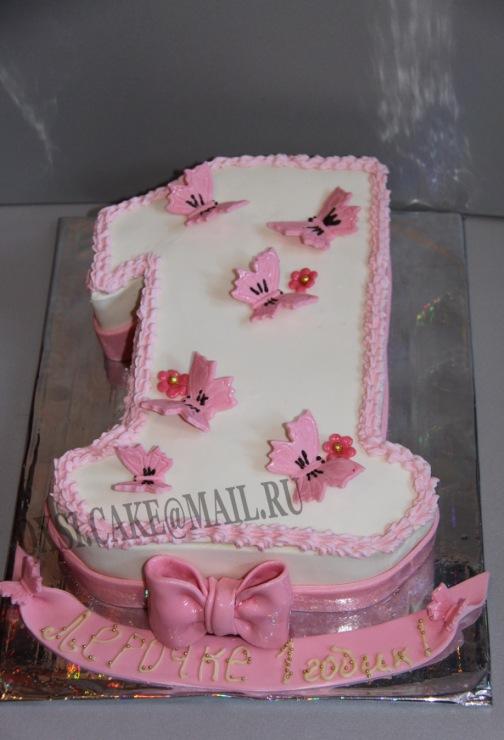 Единичка на день рождения торт