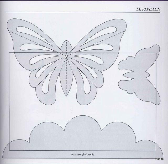 Бабочки для открытки шаблоны 12