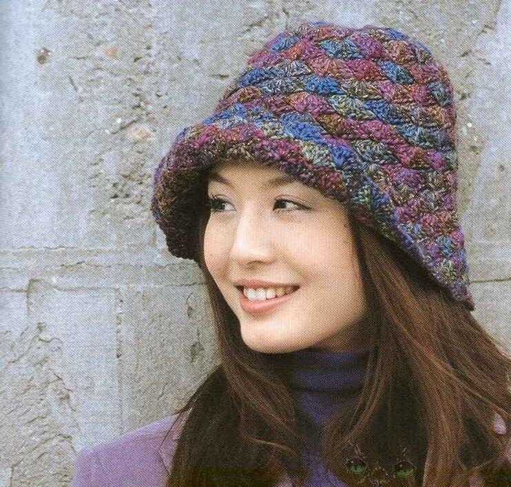 Вязание шапок нет из ниток меланж 56