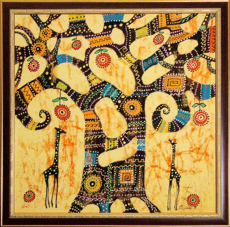 Картины своими руками в африканском стиле
