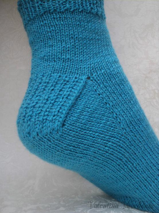 Вязание носков укрепление пятки 29