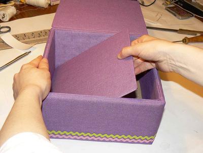 Коробочка обтянутая тканью мастер класс