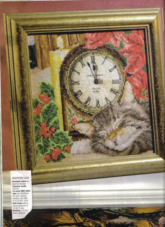 Вышивка бисером спящие коты 237