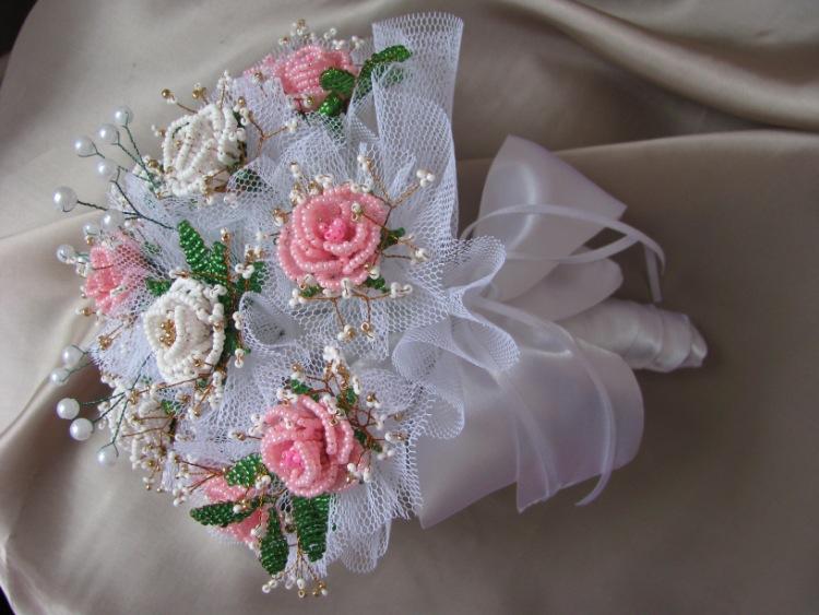 Букет невесты из бисера своими руками 83