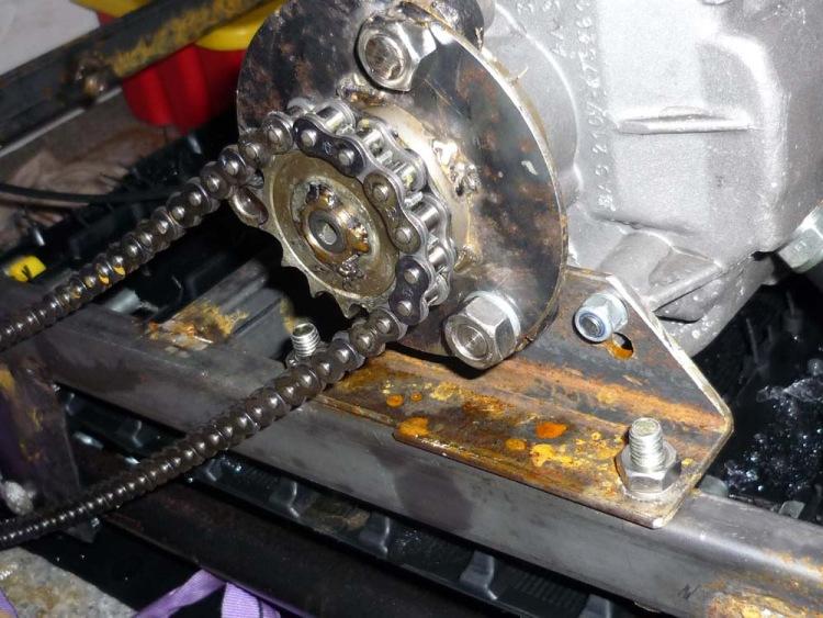 Мотобуксировщик с коробкой от жигулей