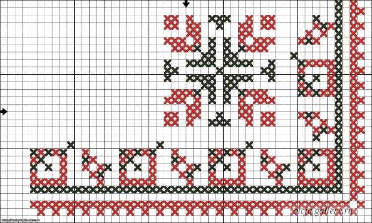 Вышивание крестиком узоры салфетки