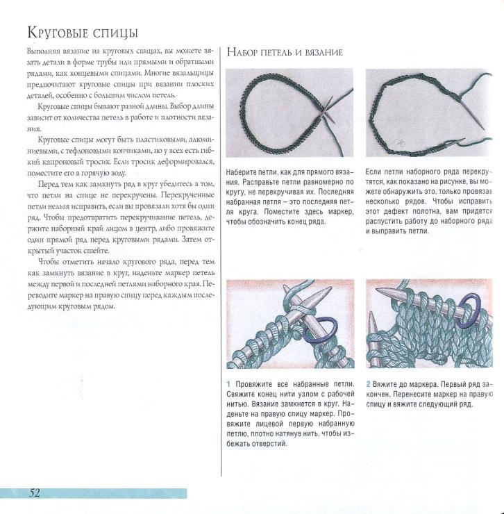 Как замыкать вязание в круг спицами 467