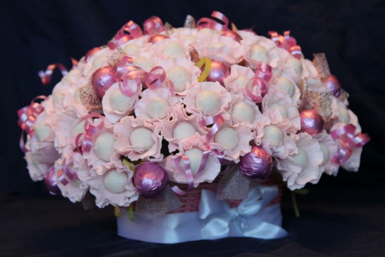 Букеты из конфет аленка пошаговое фото