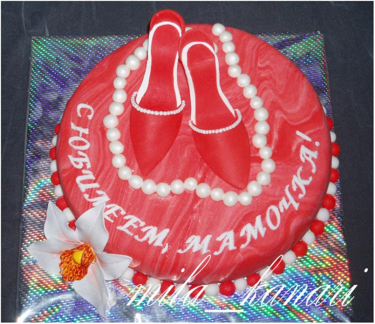 Торт на день рождения из мастики женщине фото