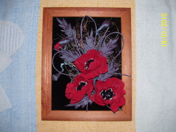 Картины своими руками из ткани мастер класс