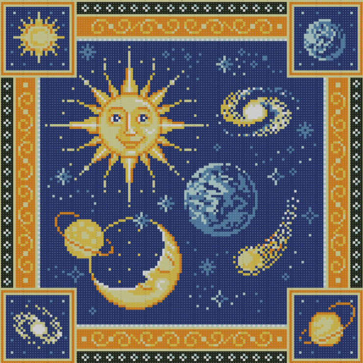 Схемы вышивки крестом о космосе