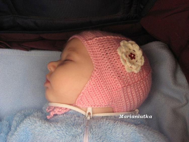 Вязание крючком шапочек для новорожденных мастер класс