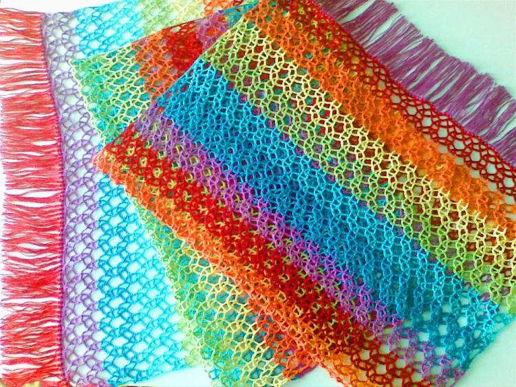 радужный шарф схема