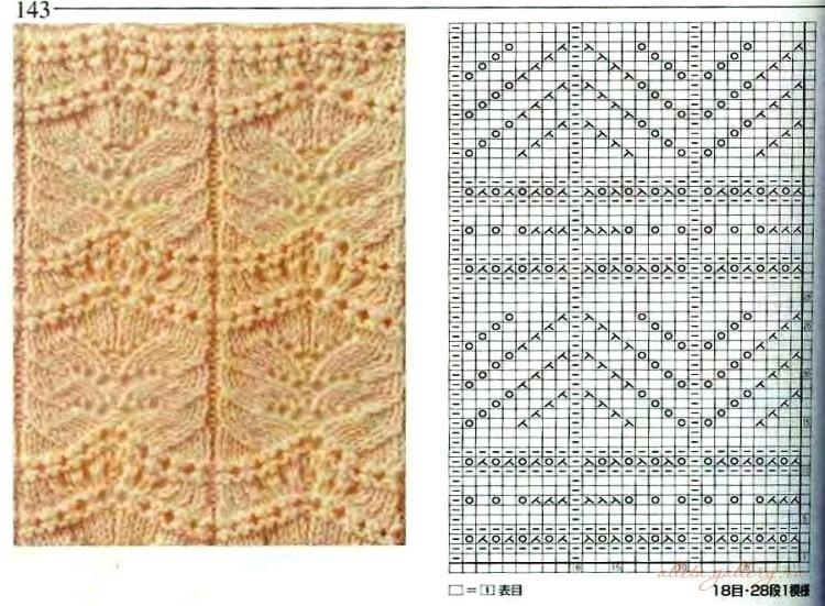 Вязание на спицах схема медвежьи лапки 365