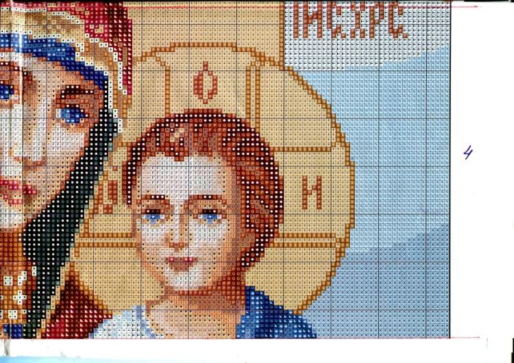 Схема вышивки икон божьей матери 123