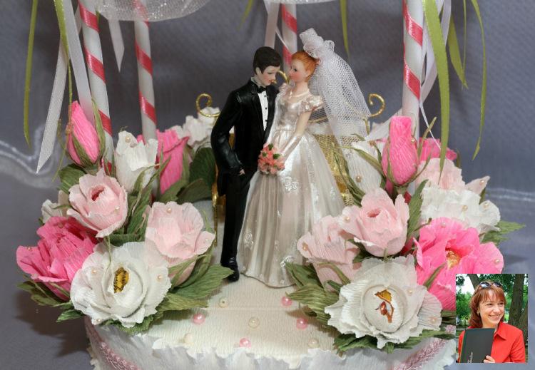 Подарок на свадьбу с конфетами
