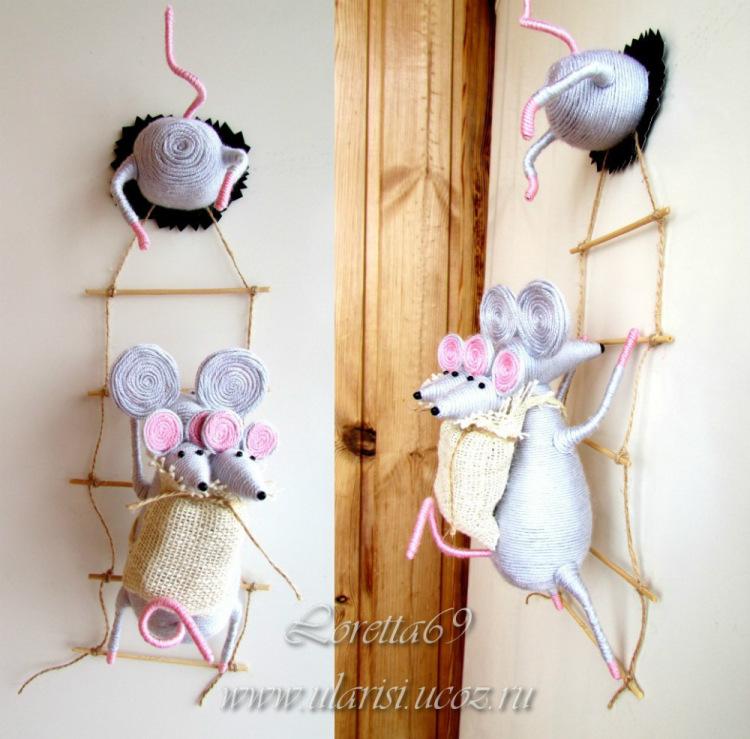 Мышки магниты своими руками 69