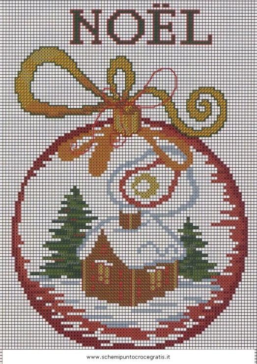 Вышивка крестом новогодний бал