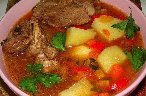 Шурпа из говядины с помидорами рецепт