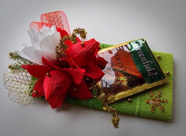 Красиво оформить подарок из конфет 64