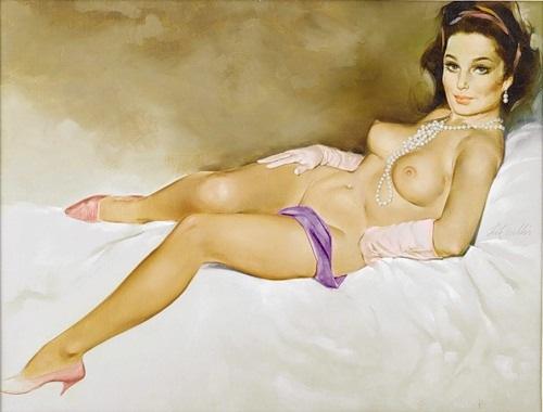 Фото голые рисованные девушки