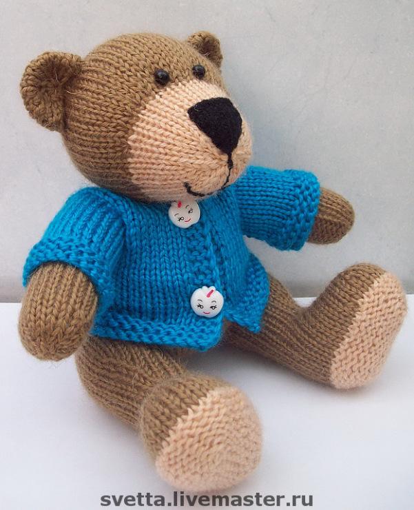 Вязание игрушки большого медведя 79