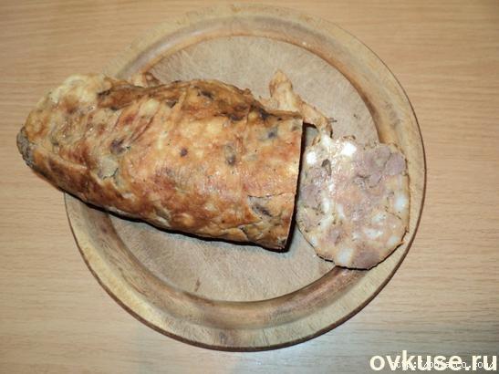 Печеночная колбаса в пакете рецепт с фото