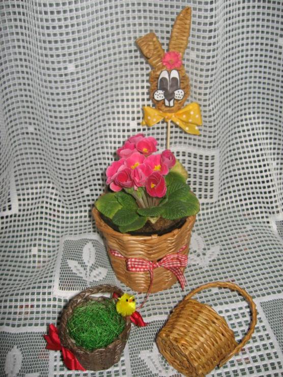 Бамбуковая ваза из газетысвоими руками
