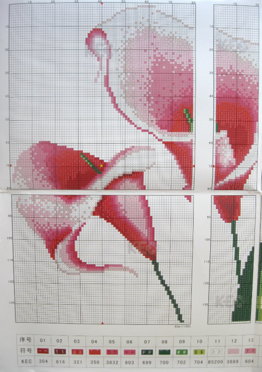 Вышивка схем триптихов